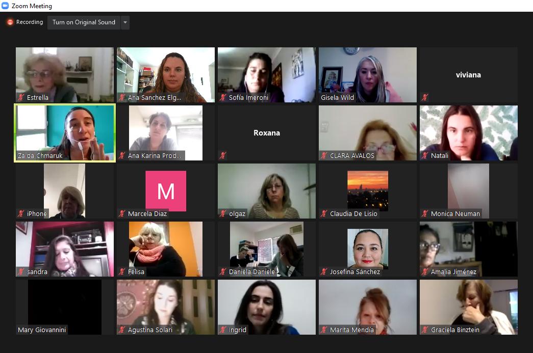 Encuentro virtual Comité de género INAES